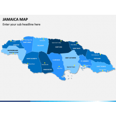 Jamaica Map PPT Slide 1