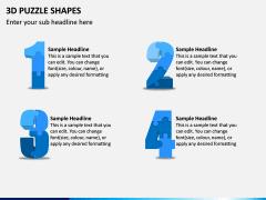 3D Puzzle Shapes PPT Slide 14