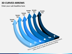 3D Curved Arrows PPT Slide 8