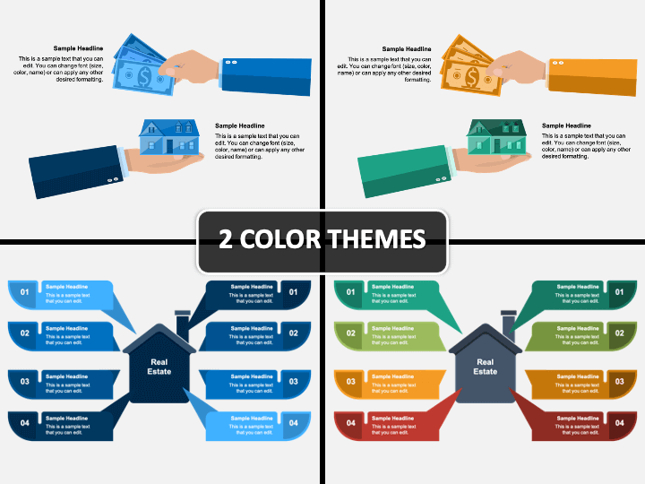 Real Estate Infographics PPT Cover Slide