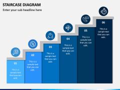 Staircase Diagram PPT Slide 14