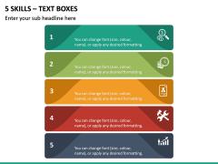 5 Skills - Text Boxes PPT Slide 2