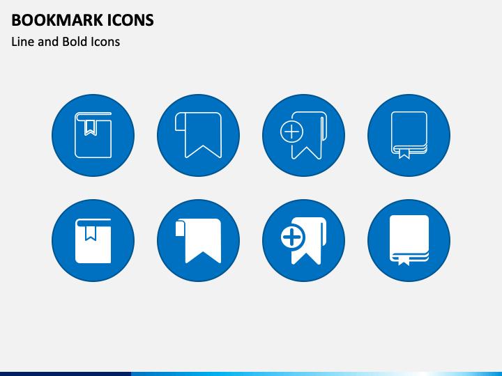 Bookmark Icons PPT Slide 1