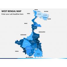 West Bengal Map PPT Slide 1