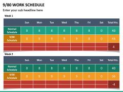 9/80 Work Schedule PPT Slide 5