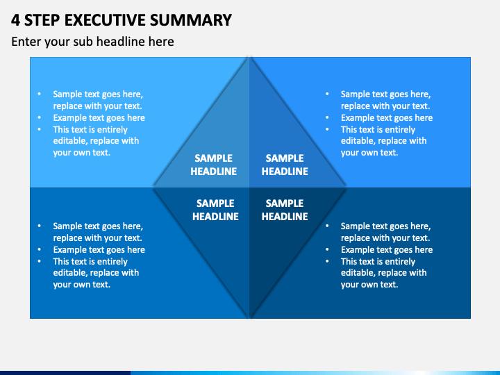 4 Step Executive Summary PPT Slide 1