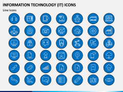 Information Technology (IT) Icons PPT Slide 4