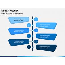 6 Point Agenda PPT Slide 1