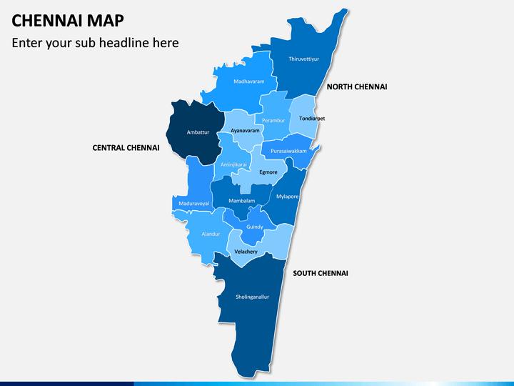 Chennai Map PPT Slide 1