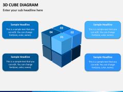 3D Cube Diagram PPT Slide 1