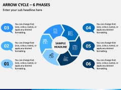 Arrow Cycle – 6 Phases PPT Slide 1