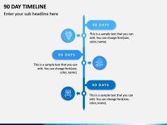 90 Day Timeline PPT Slide 3