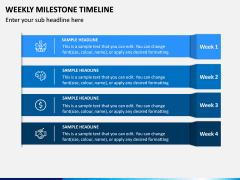 Weekly Milestone Timeline PPT Slide 5
