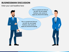 Businessman Discussion PPT Slide 1