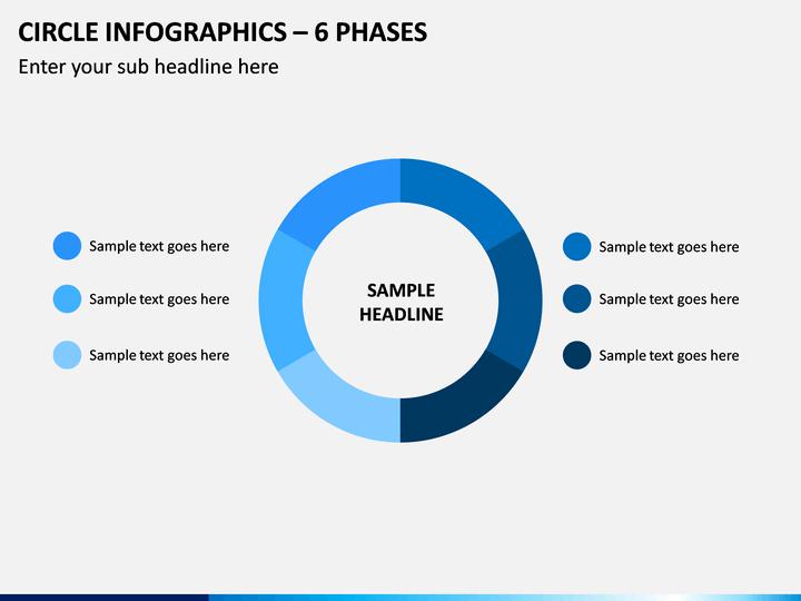 Circle Infographics – 6 Phases PPT Slide 1