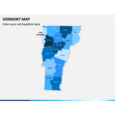 Vermont Map PPT Slide 1
