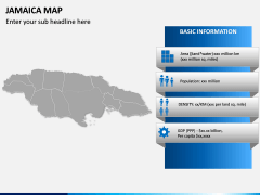 Jamaica Map PPT Slide 3