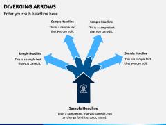 Diverging Arrows PPT Slide 8