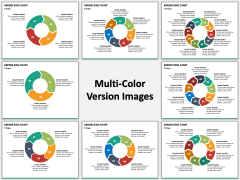 Arrow Ring Chart PPT Multicolor Combined