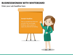Businesswoman With Whiteboard PPT Slide 2