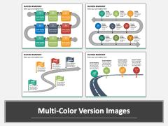 Success Roadmap PPT Multicolor Combined