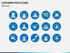 Customer Focus Icons PPT Slide 1