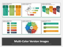 Business To Employees (B2E) PPT Multicolor Combined