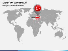 Turkey on World Map PPT Slide 2
