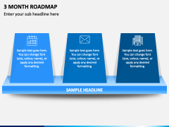 3 Month Roadmap PPT Slide 1