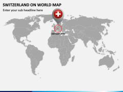 Switzerland on World Map PPT Slide 2