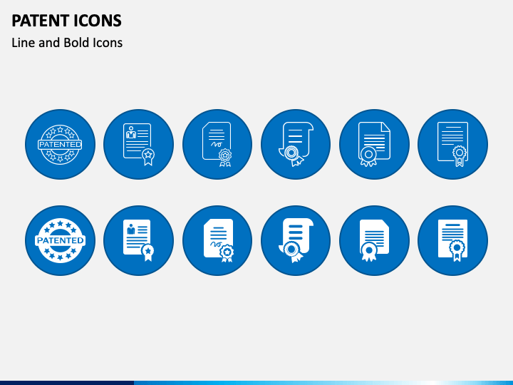 Patent Icons PPT slide 1