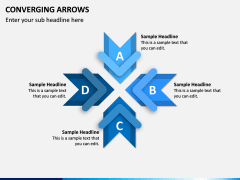 Converging Arrows PPT Slide 7