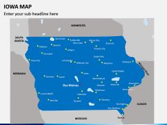 Iowa Map PPT Slide 1