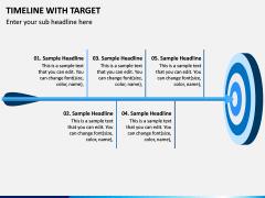 Timeline With Target PPT Slide 1