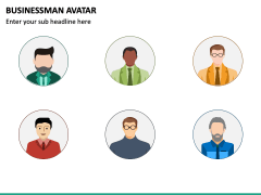 Business Man Avatar PPT Slide 4