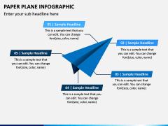 Paper Plane Infographic PPT Slide 2
