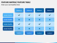 Features Matrix PPT Slide 6