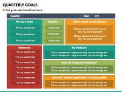 Quarterly Goals PPT Slide 5