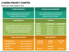 6 Sigma Project Charter PPT Slide 2