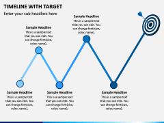 Timeline With Target PPT Slide 7
