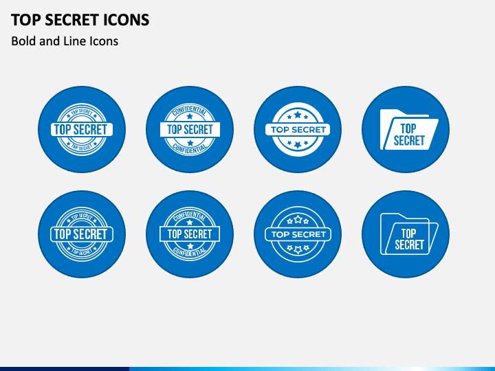 Top Secret Icons PPT Slide 1