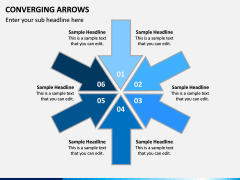 Converging Arrows PPT Slide 3