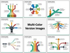 Diverging Arrows Multicolor Combined