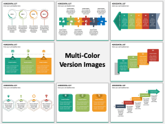 Horizontal List Infographics Multicolor Combined