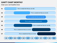 Gantt Chart Monthly PPT Slide 3