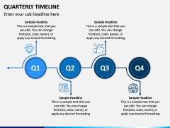 Quarterly Timeline PPT Slide 1