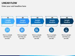 Linear Flow Infographics PPT Slide 5