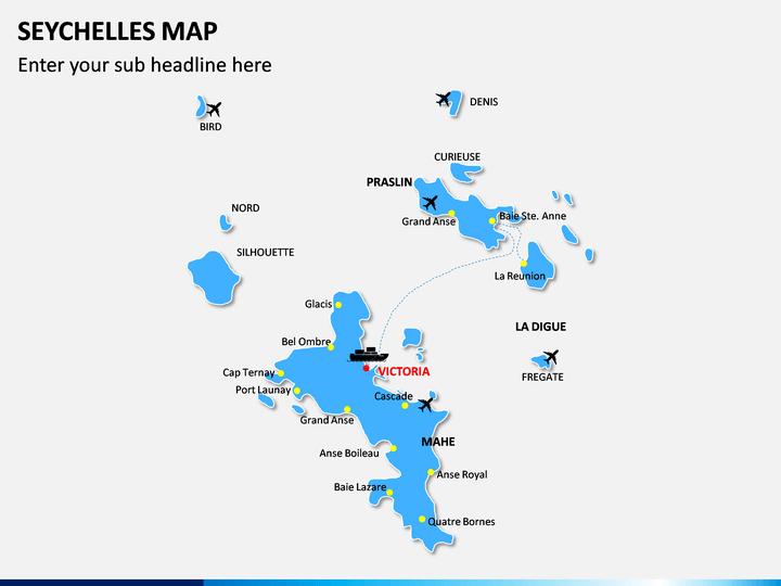Seychelles Map PPT Slide 1