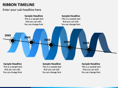 Ribbon Timeline PPT Slide 1