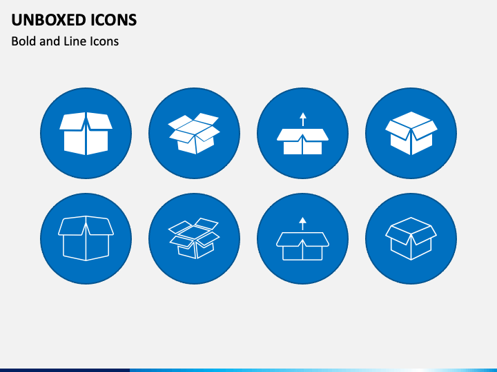 Unboxed Cube Icons PPT Slide 1